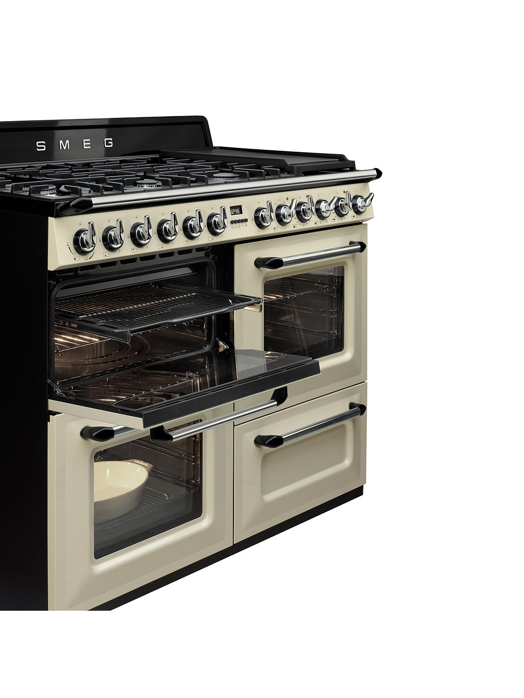 Buy Smeg TR4110P1 Dual Fuel Range Cooker, Cream Online at johnlewis.com