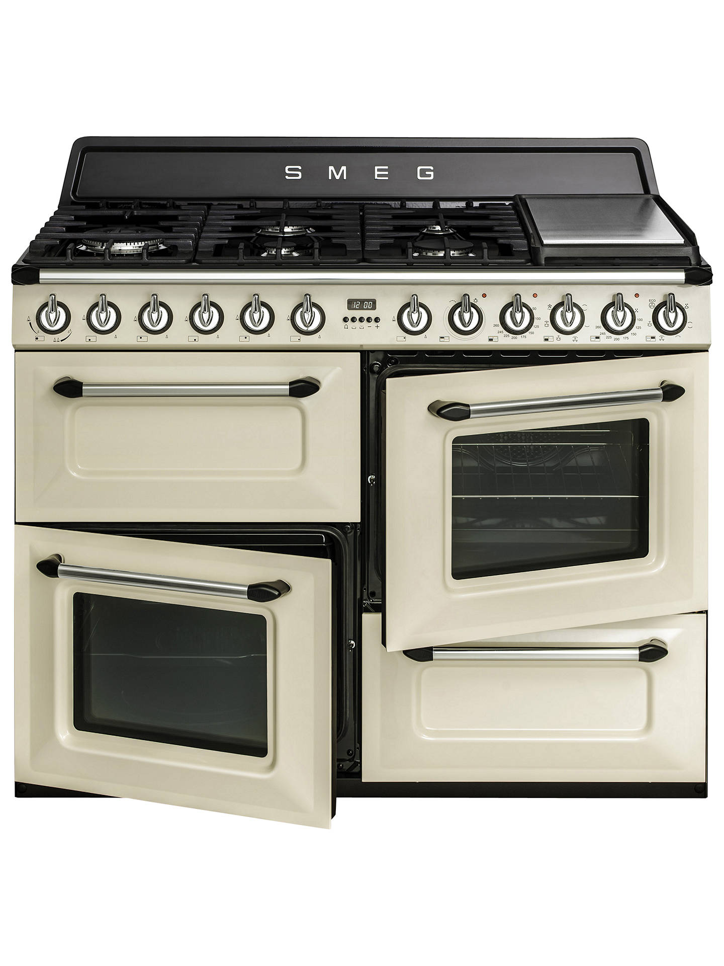 BuySmeg TR4110P1 Dual Fuel Range Cooker, Cream Online at johnlewis.com