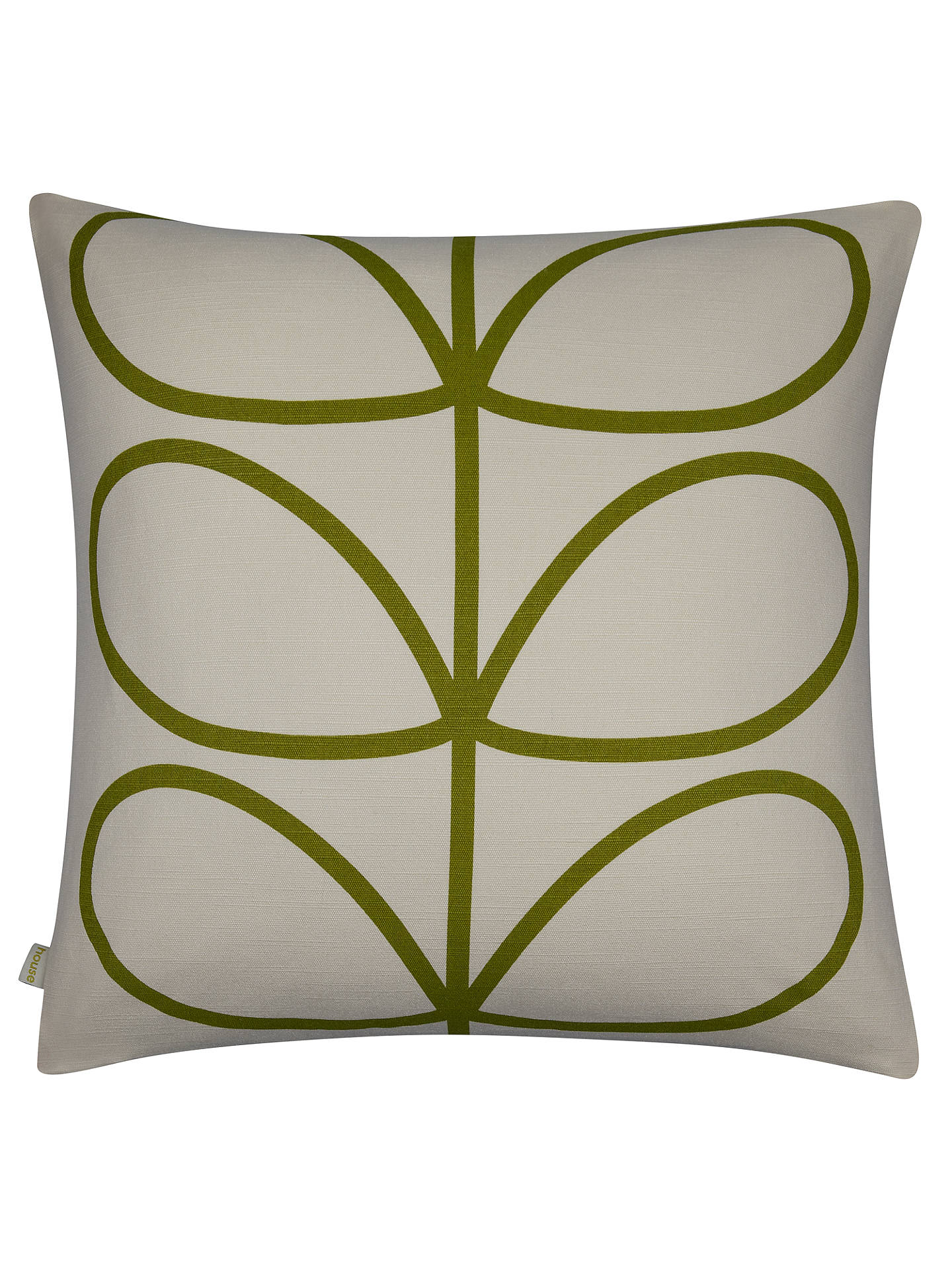 Buy Orla Kiely Linear Stem Cushion, Apple Online at johnlewis.com