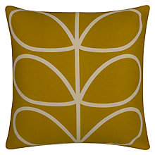 Buy Orla Kiely Linear Stem Cushion, Sunflower Online at johnlewis.com