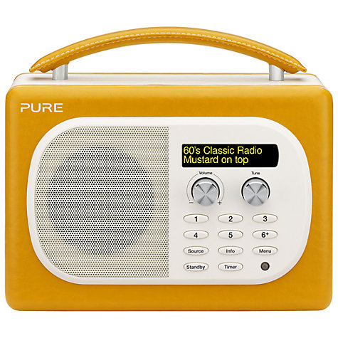Buy Pure Evoke Mio DAB Radio, Mustard Online at johnlewis.com