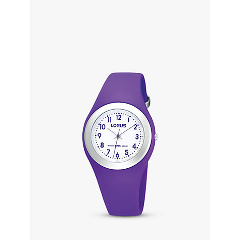 Buy Lorus Children's Easy Read Rubber Strap Watch Online at johnlewis.com
