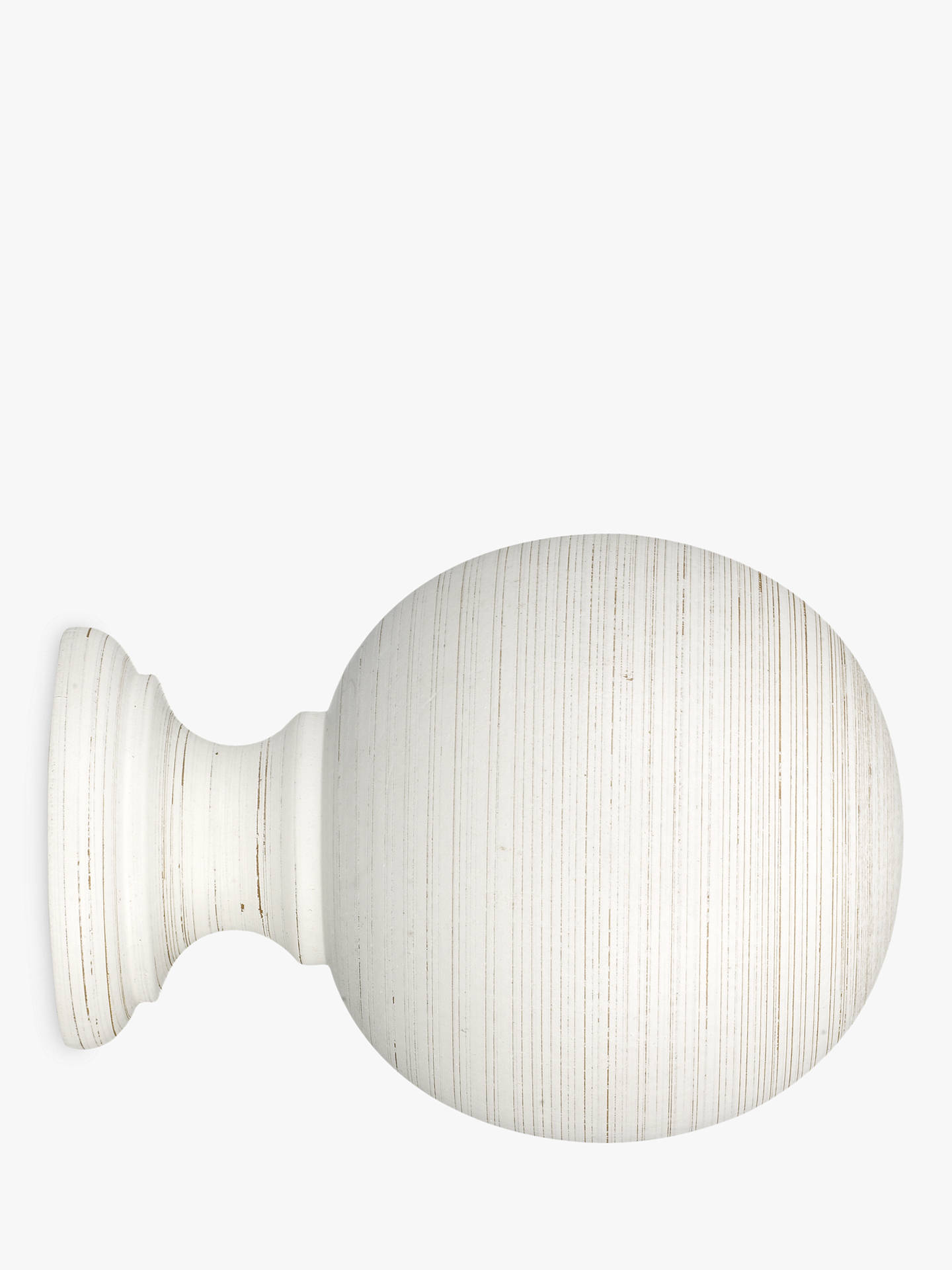BuyJohn Lewis & Partners Scratched White Wood Ball Finial, Dia.35mm Online at johnlewis.com