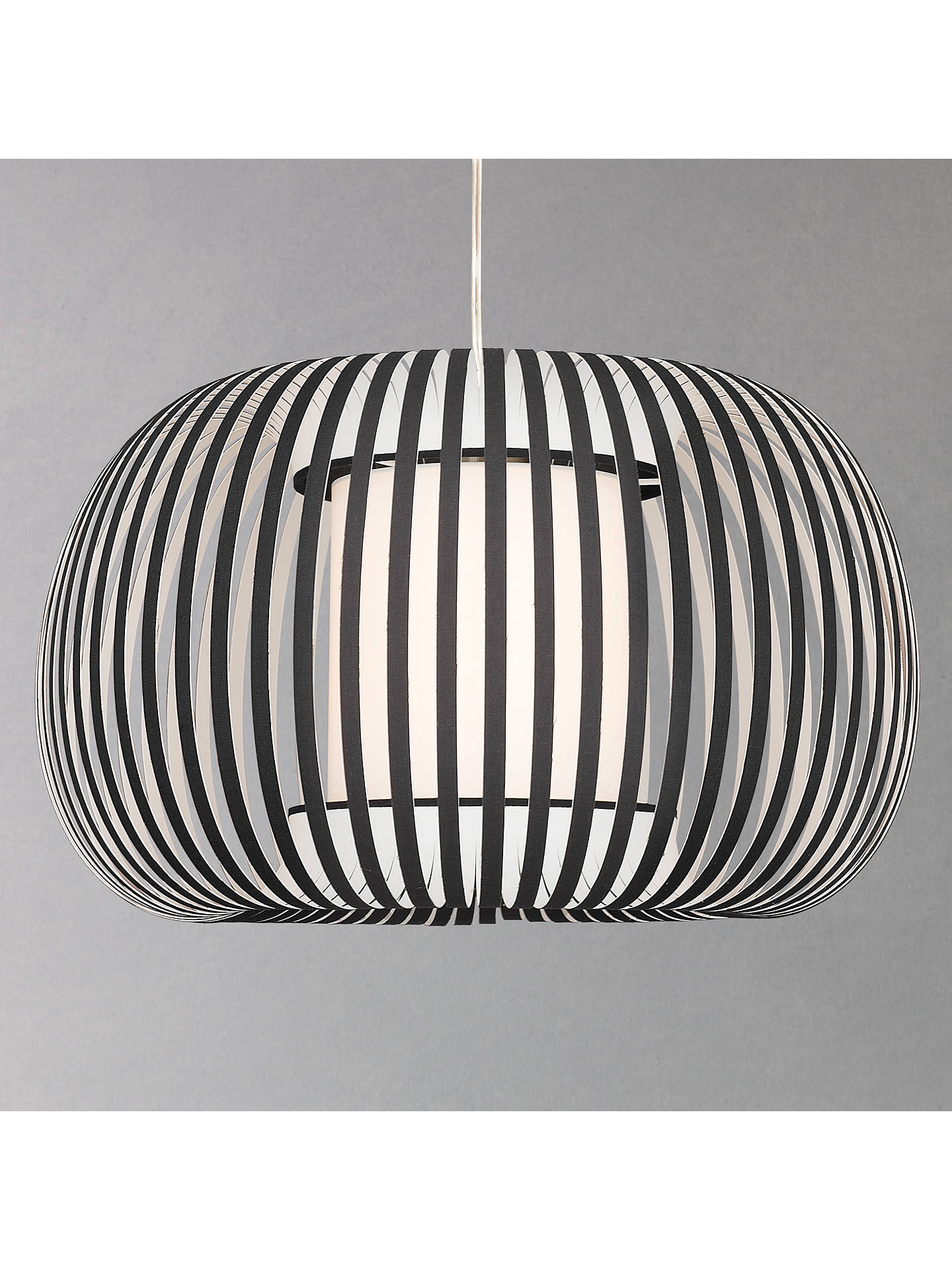 John Lewis Partners Harmony Small Ribbon Ceiling Light Black