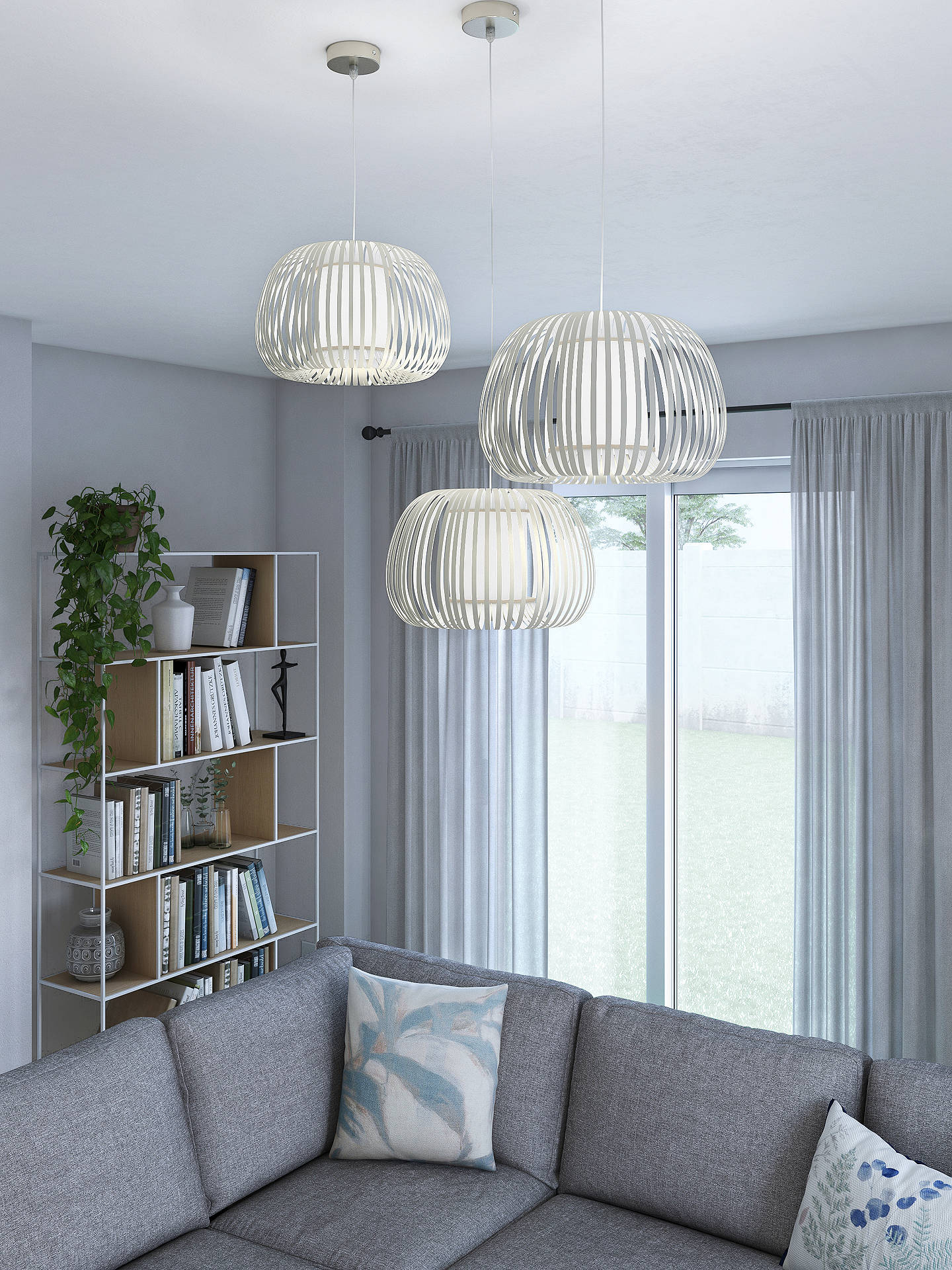John Lewis & Partners Harmony Small Ribbon Ceiling Light, Natural