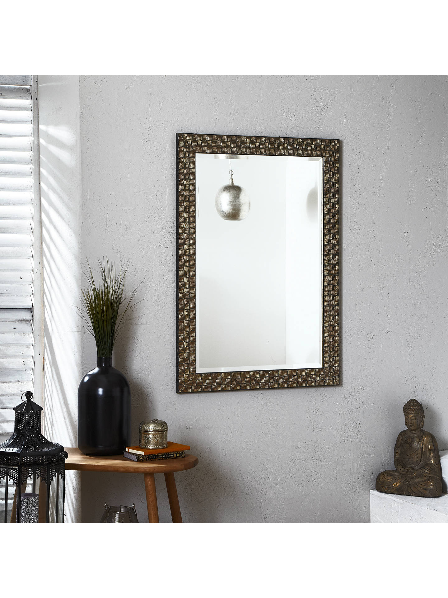 BuyJohn Lewis & Partners Mosaic Wall Mirror, 106 x 75cm, Champagne Online at johnlewis.com