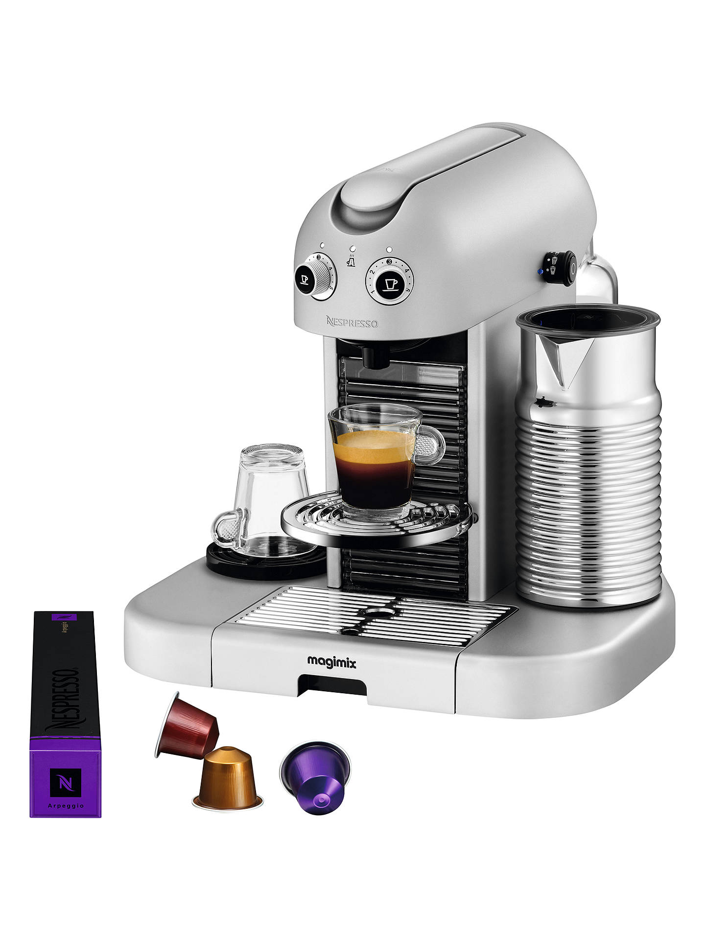 Buy Nespresso Gran Maestria Coffee Machine by Magimix, Silver Online at johnlewis.com