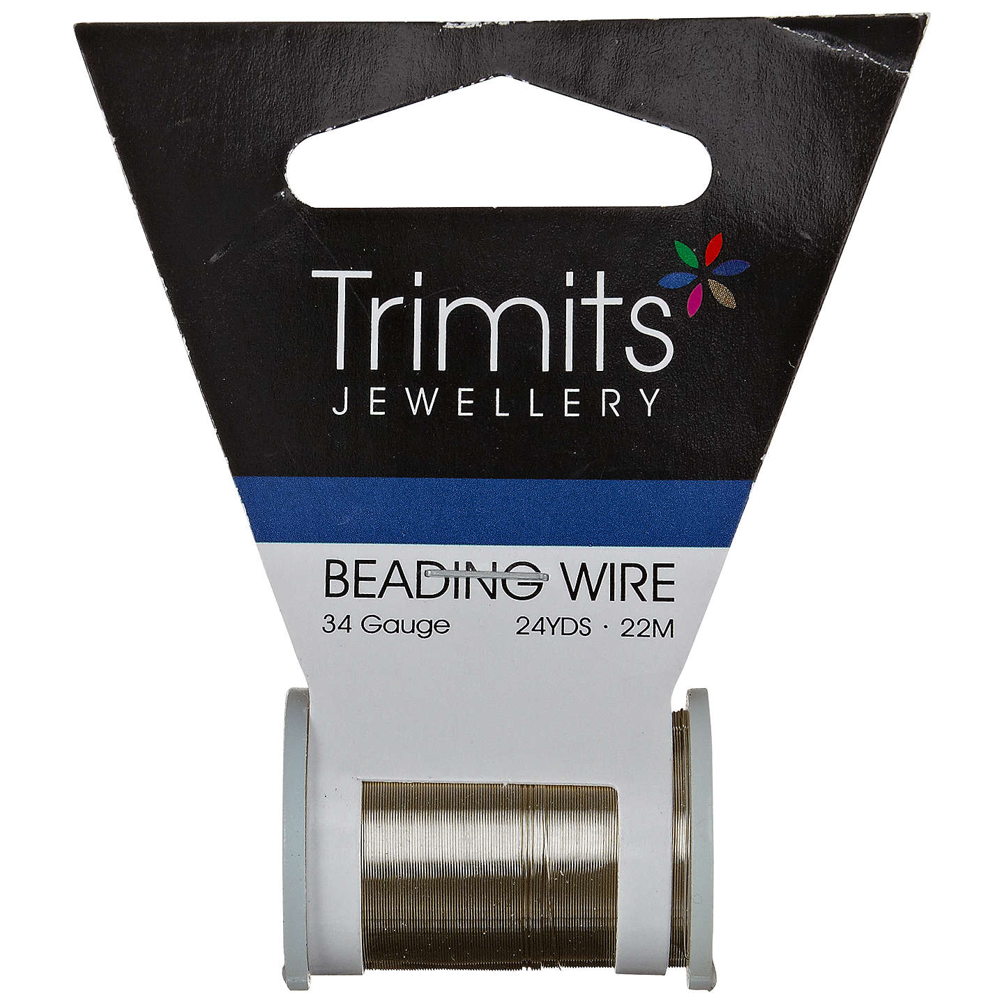 Trimits beading wire 34 gauge wire center groves a la mode 34 gauge beading wire 21 94m at john lewis rh johnlewis com wire gauge and amperage ratings standard wire gauge greentooth Choice Image