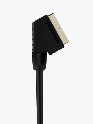 John Lewis & Partners Gold Plated SCART Cable, 1.5m