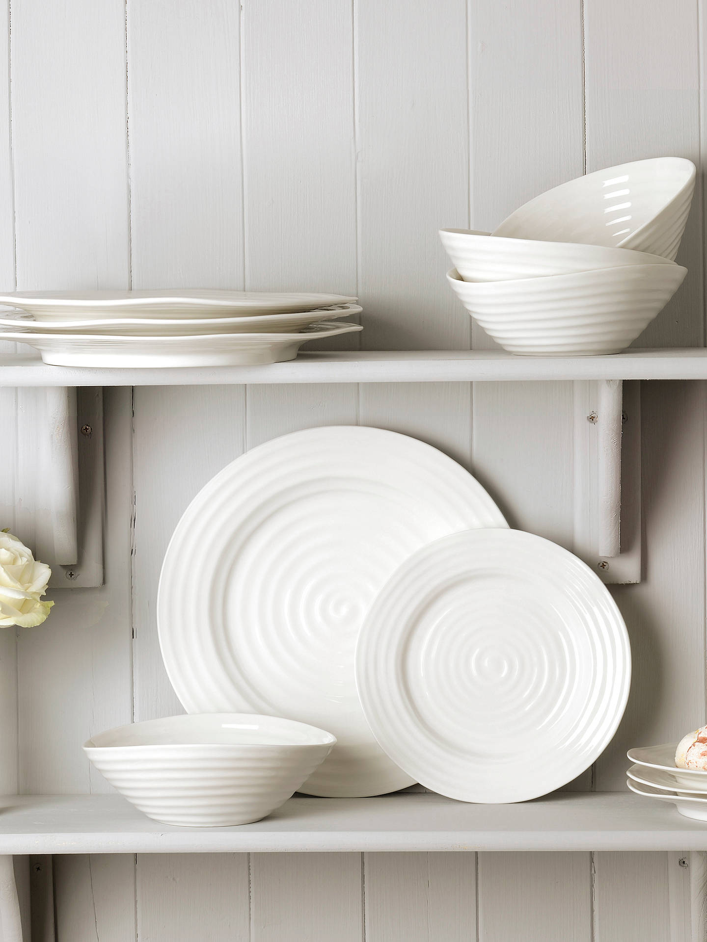 BuySophie Conran for Portmeirion Dinnerware Set, White, 12 Piece Online at johnlewis.com