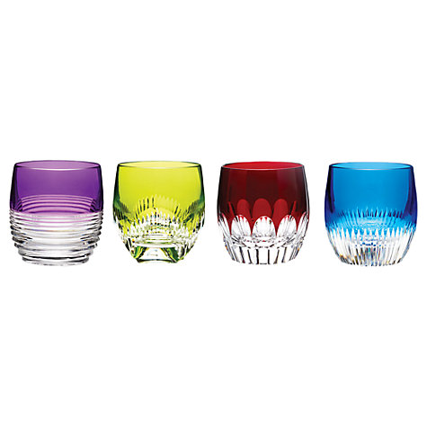 Buy Waterford Cut Lead Crystal Mixology Tumblers, Set of 4, Coloured Online at johnlewis.com