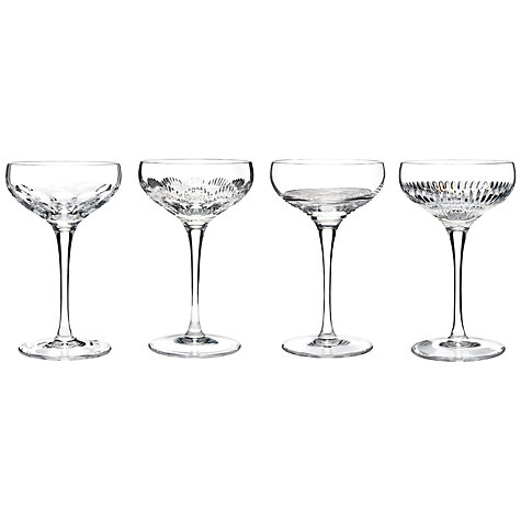 Buy Waterford Crystal Mixology Cut Lead Crystal Coupes, 0.175L, Set of 4 Online at johnlewis.com