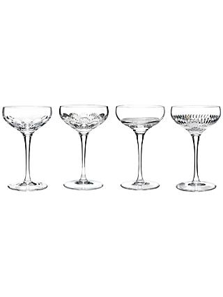 Waterford Crystal Mixology Cut Lead Crystal Coupes, 0.175L, Set of 4