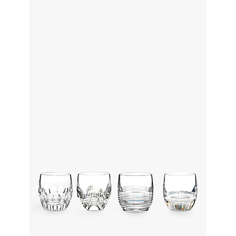 Buy Waterford Crystal Mixology Cut Lead Crystal Tumblers, Set of 4, Clear Online at johnlewis.com