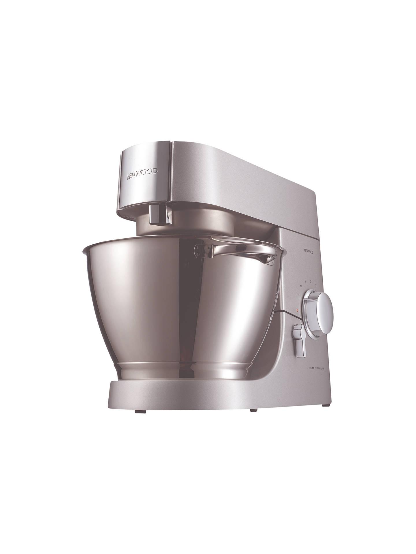 Kenwood KMC010 Chef Stand Mixer Titanium at John Lewis & Partners