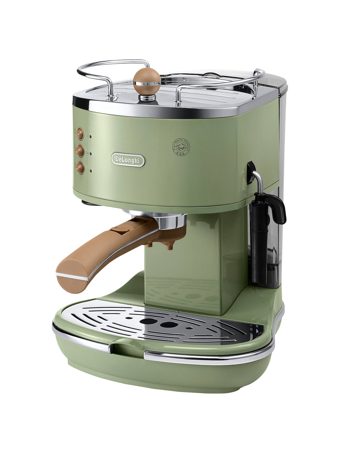 BuyDe'Longhi ECOV310.GR Vintage Icona Espresso Coffee Machine, Olive Green Online at johnlewis.com