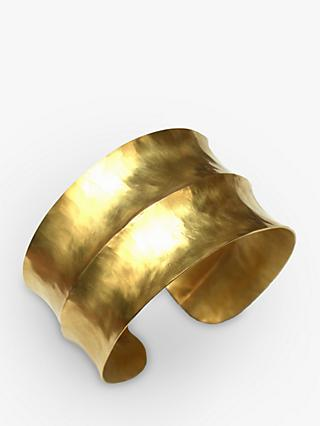Dower & Hall Nomad Vermeil Double Concave Hammered Cuff, Gold