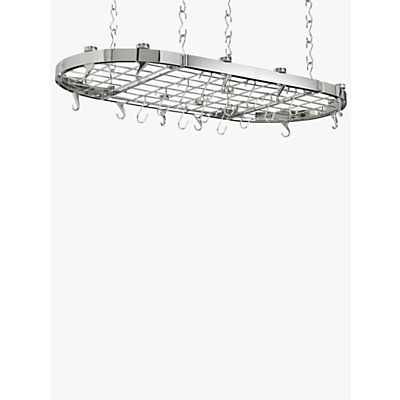 Hahn Premium Chrome Oval Ceiling Pan Rack