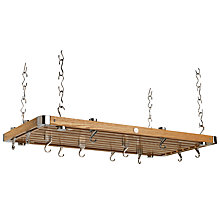 Buy Hahn Premium Large Rectangular Ceiling Rack, Oak Online at johnlewis.com