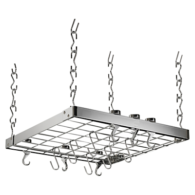 Hahn Premium Medium Square Ceiling Pan Rack, Chrome