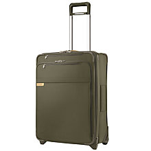 Buy Briggs & Riley Baseline Expandable 2-Wheel Medium Suitcase, Olive Online at johnlewis.com