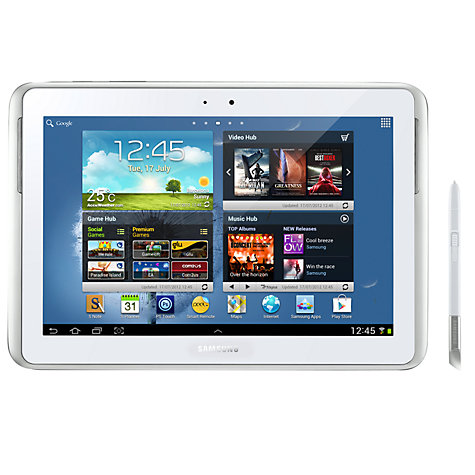 "Buy Samsung Galaxy Note 10.1 Tablet, Samsung Exynos, Android, 10.1"", Wi-Fi, 16GB, White Online at johnlewis.com"