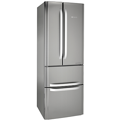 Hotpoint FFU4DX Fridge Freezer A Rated 70cm Wide Stainless SteelSilver