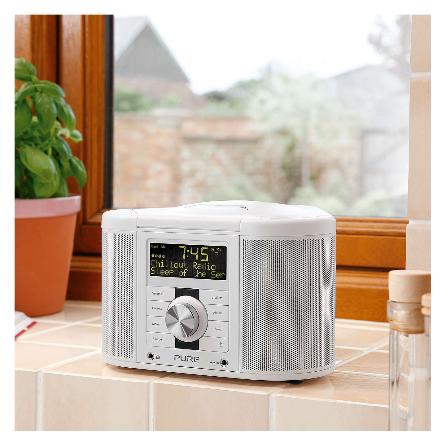 BuyPure Chronos CD Series II DAB/FM/CD Clock Radio, White Online at johnlewis.com