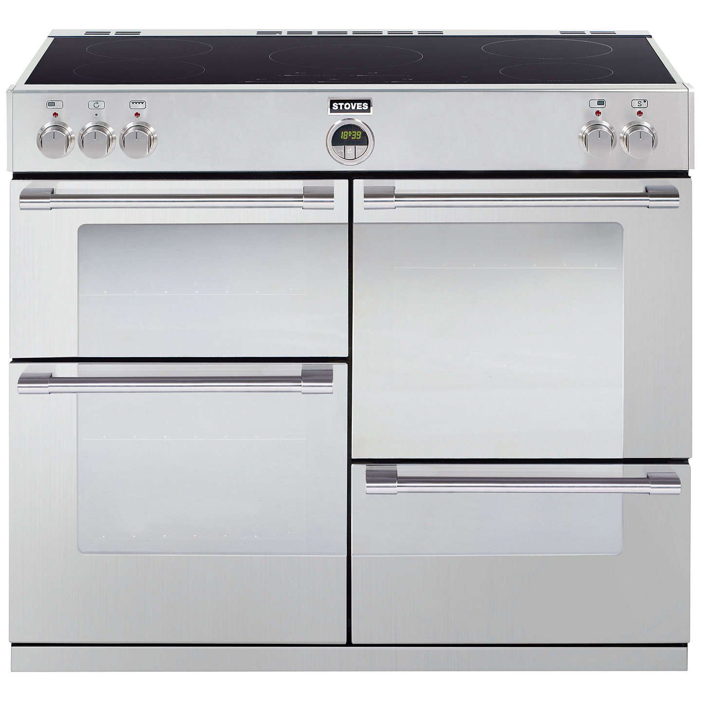 BuyStoves Sterling 1000EI Induction Hob Range Cooker, Stainless Steel Online at johnlewis.com
