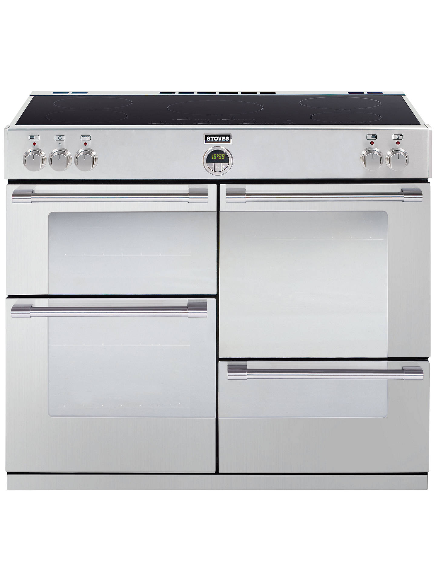 Stoves Sterling 1000ei Induction Hob Range Cooker Stainless Steel Wiring Electric Oven And Buystoves Online At