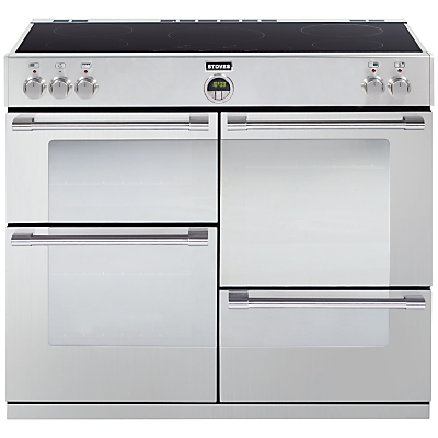 Stoves Sterling 1100EI Induction Hob Range Cooker, Stainless Steel