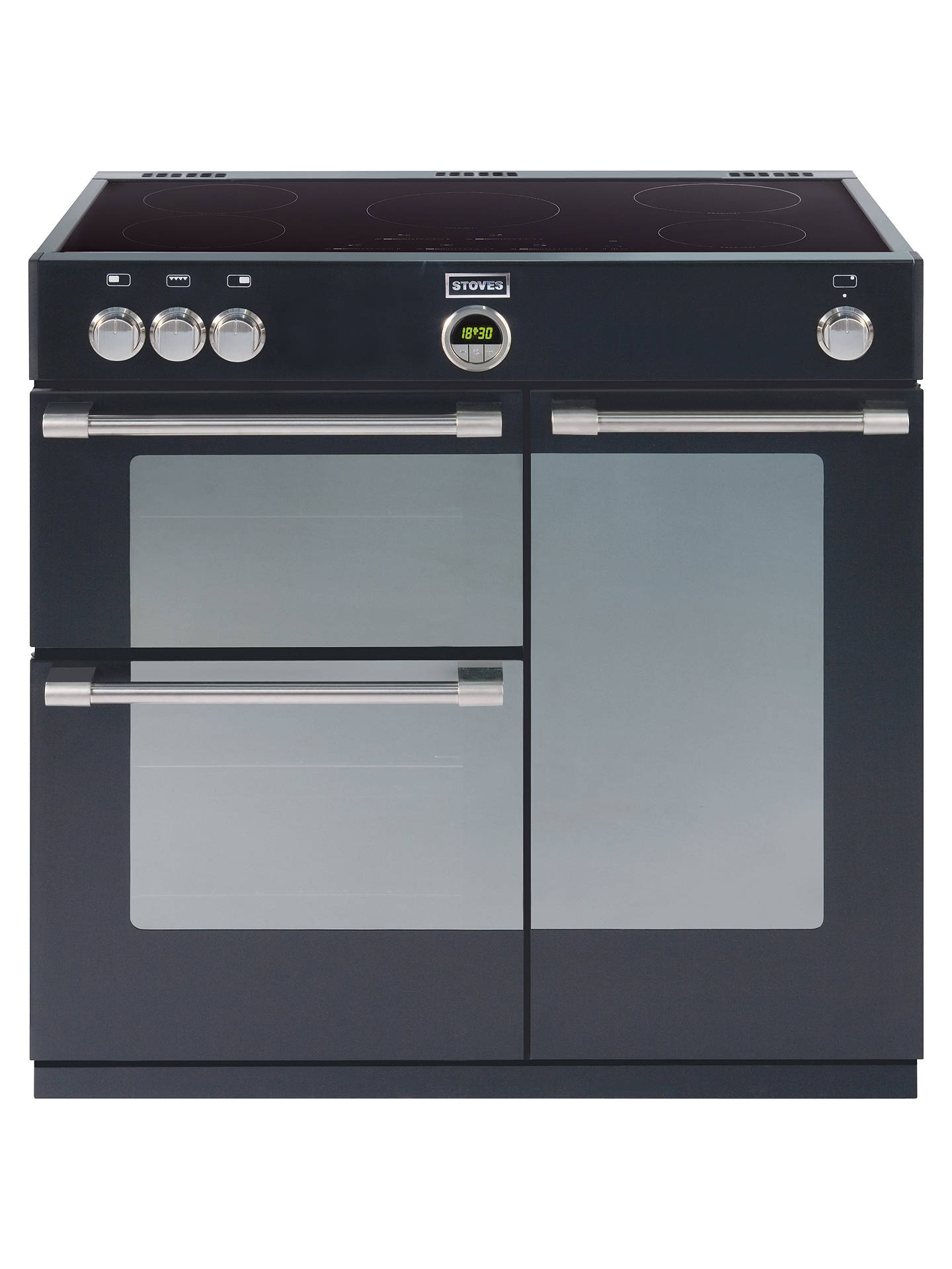 Stoves Sterling 900ei Induction Hob Range Cooker Black At John Simple Heater Circuit Hot Plate Buystoves Online