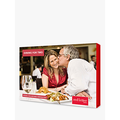 Buy Red Letter Days Dining for Two Online at johnlewis.com