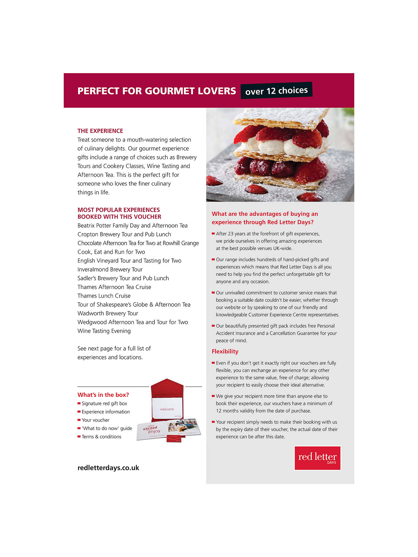 BuyRed Letter Days Perfect Gourmet Lovers Online at johnlewis.com