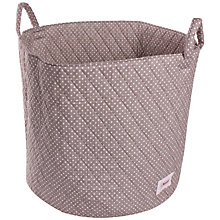 Buy Minene Large Dots Storage Basket, Grey Online at johnlewis.com