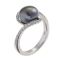 Buy A B Davis Pearl and Cubic Zirconia Twist Ring Online at johnlewis.com