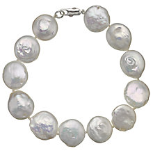 Buy A B Davis Freshwater Coin Pearl Bracelet Online at johnlewis.com