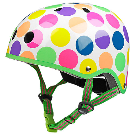 Buy Micro Scooter Safety Helmet, Neon Dots, Small Online at johnlewis.com