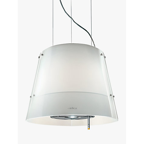 Buy Elica Charm Cooker Hood, Stainless Steel/White Glass Online at johnlewis.com