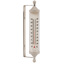 Buy Garden Trading Outdoor Large Tube Thermometer, Clay Online at johnlewis.com