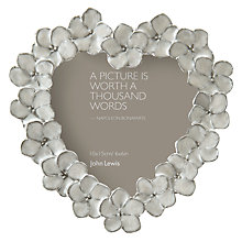 Buy John Lewis Petal Heart Photo Frame, Ivory, 6 x 6cm Online at johnlewis.com
