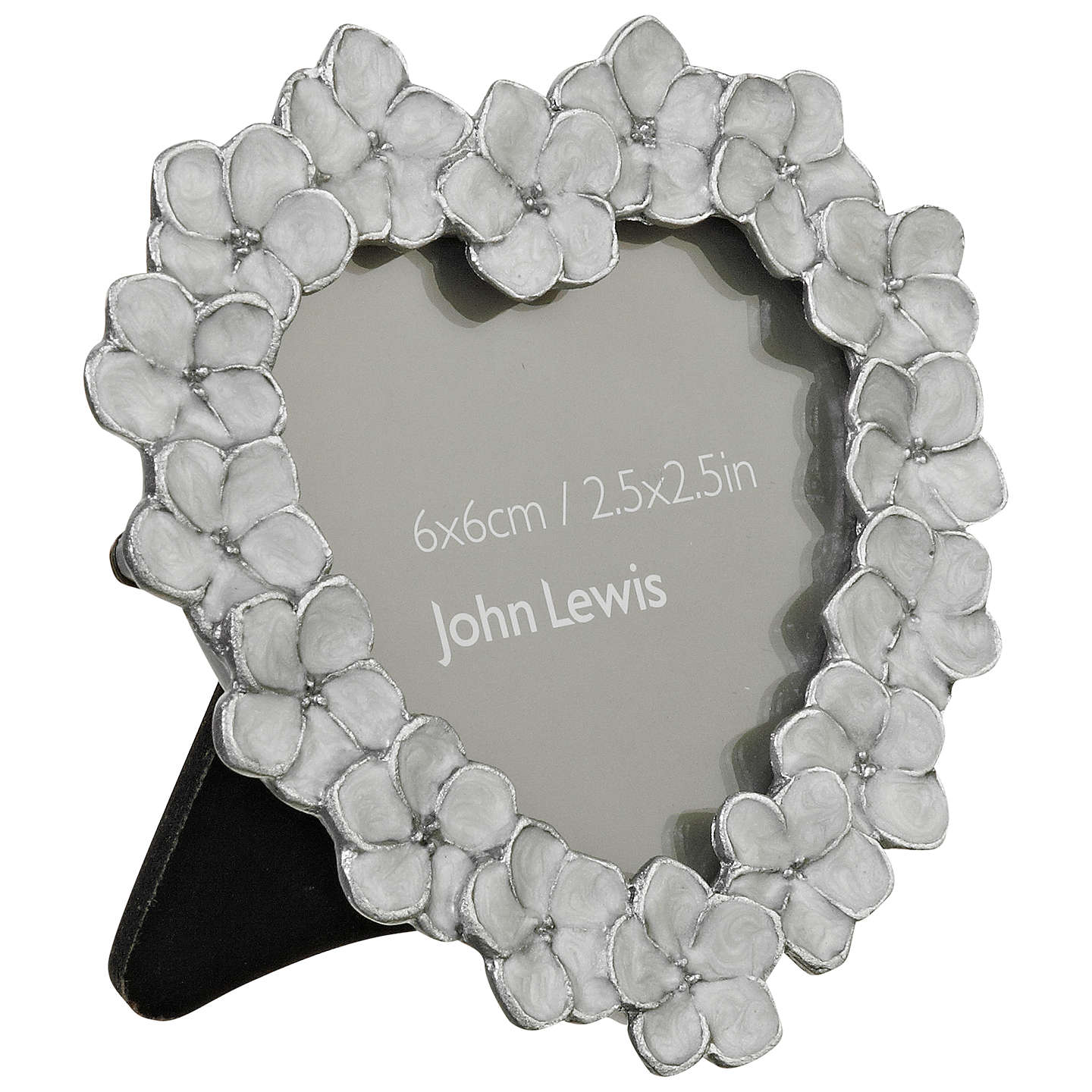 BuyJohn Lewis Petal Heart Photo Frame, Ivory, 6 x 6cm Online at johnlewis.com