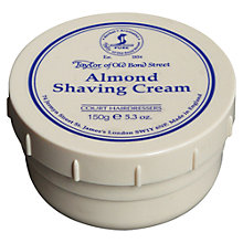 Buy Taylor of Old Bond Street Almond Shaving Cream, 150g Online at johnlewis.com