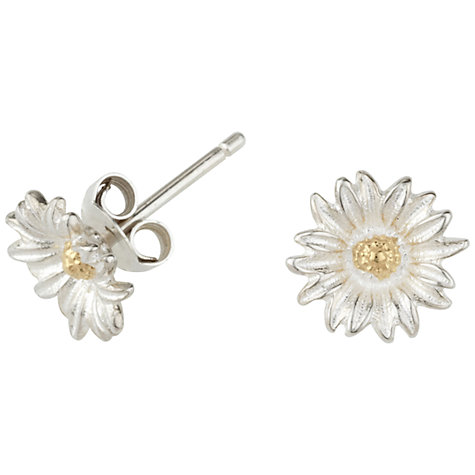 Buy Dower & Hall Daisy Stud Earrings, Silver Online at johnlewis.com