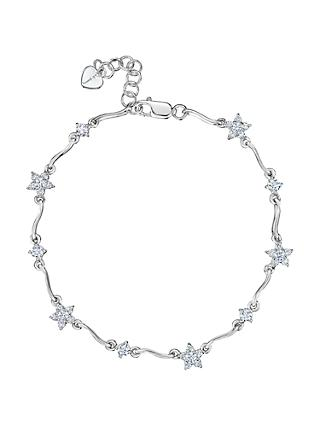 Jools by Jenny Brown Silver Flower Bracelet