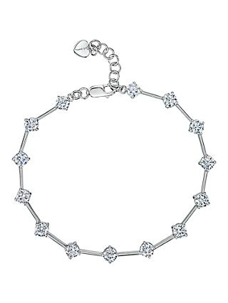 Jools by Jenny Brown Silver Cubic Zirconia Rounds Bracelet
