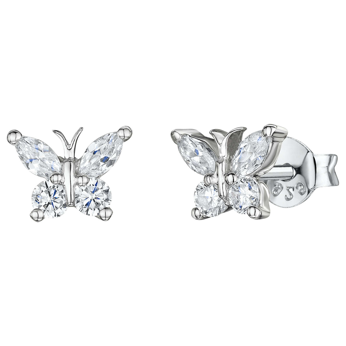 stud silver butterfly p gold pack earrings