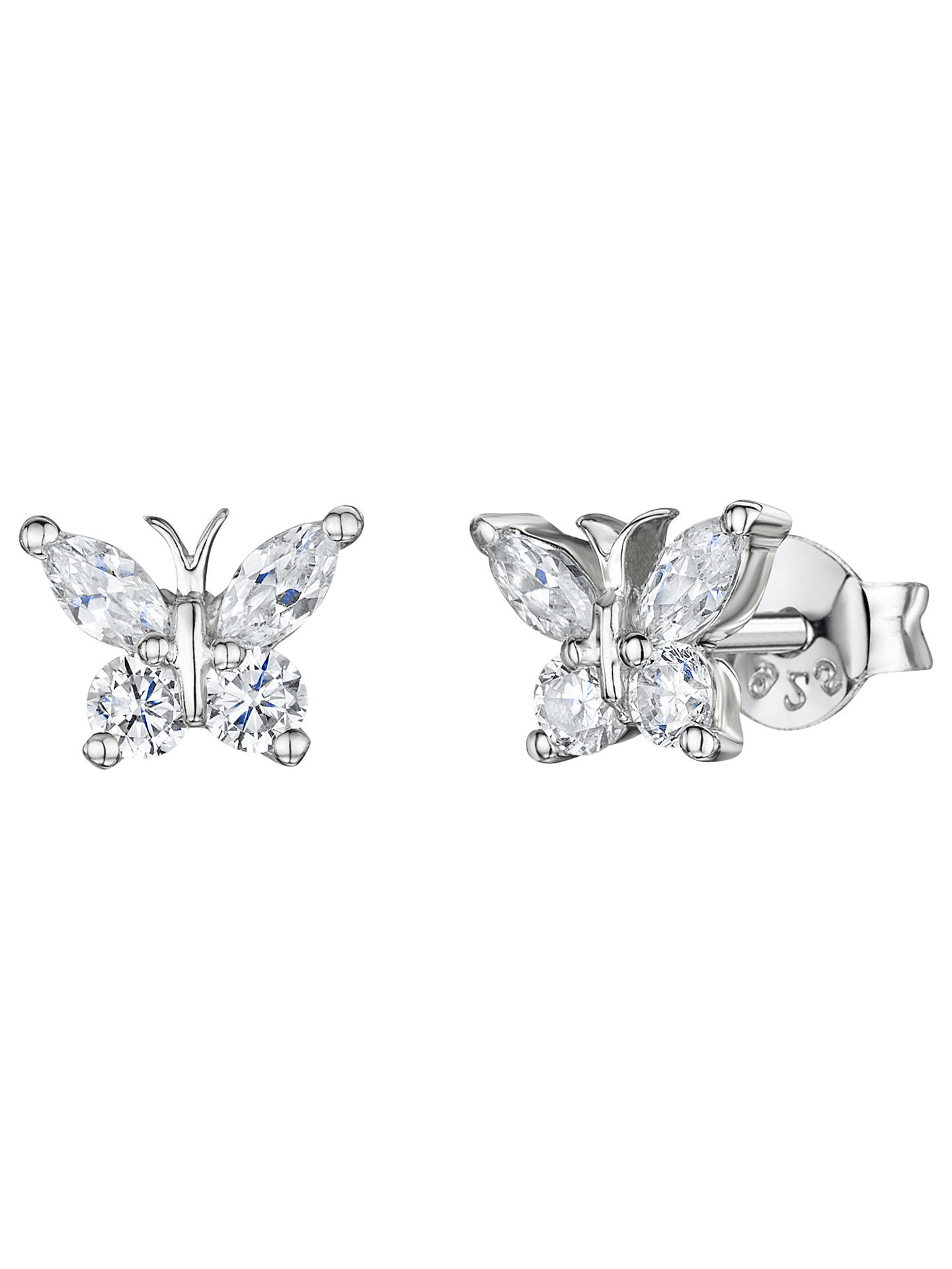 BuyJools by Jenny Brown Butterfly Stud Earrings Online at johnlewis.com