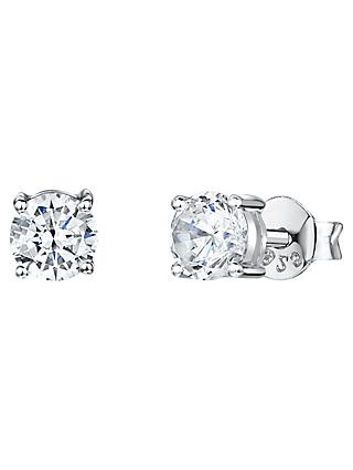 Jools by Jenny Brown Cubic Zirconia Small Round Stud Earrings