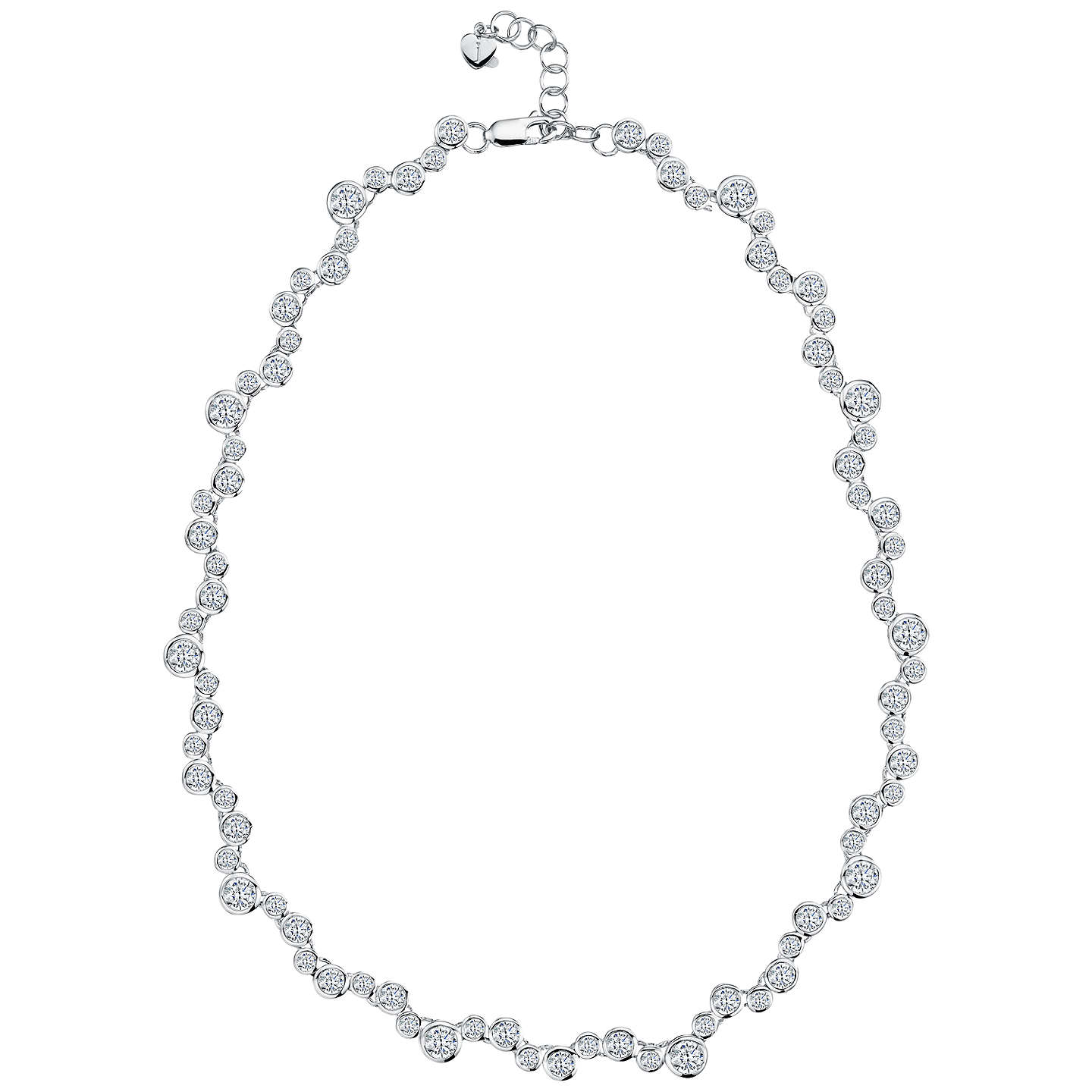platinum with necklace blue serenity finish in zirconia silver cubic sterling crislu